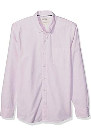 Goodthreads Slim-Fit Long-Sleeve Striped Oxford Shirt w/Pocket Button-Down-Shirts, Pink Bengal Stripe