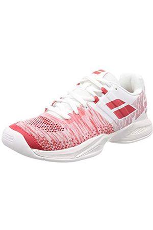 Babolat Propulse Blast Teppichschuh Damen-Weiß, Rot, Zapatillas de Tenis para Mujer