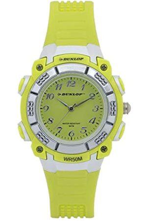 Dunlop Reloj Analógico para Unisex Adultos de Cuarzo con Correa en Caucho DUN243L12