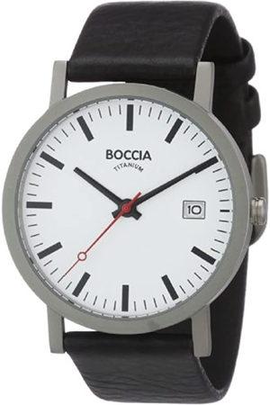 Boccia Reloj Analógico de Cuarzo para Hombre con Correa de Piel – 135-2108-18