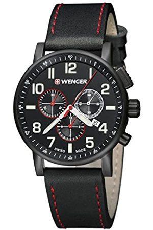 Wenger Reloj Analógico para Unisex Adultos de Cuarzo con Correa en Cuero 01-0343-104