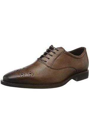 Ecco CALCAN, Zapatos de Cordones Oxford para Hombre, (Amber 1112)