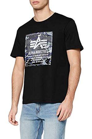 Alpha Industries Camo Block T Camiseta de Manga Corta