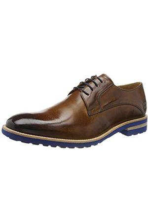 Melvin & Hamilton Eddy 8, Zapatos de Cordones Derby para Hombre, (Wood Crust-Wood-Laces-Navy-Lining-Rich Tan-Insole Leather-Aspen-Blue)
