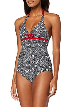 Pour Moi ? Starboard Underwired Halter Swimsuit baño, Black/Deep Red