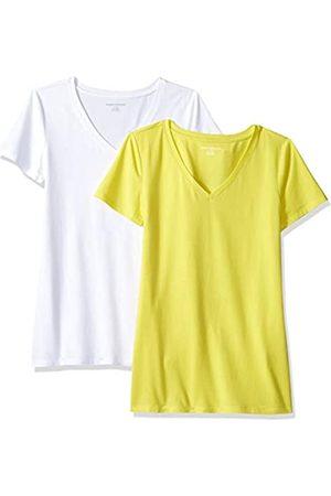 Amazon – Camiseta de manga corta de corte clásico con cuello en V para mujer (2 unidades)