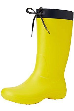 Crocs Freesail Rain Boot Women, Mujer Bota, (Lemon)