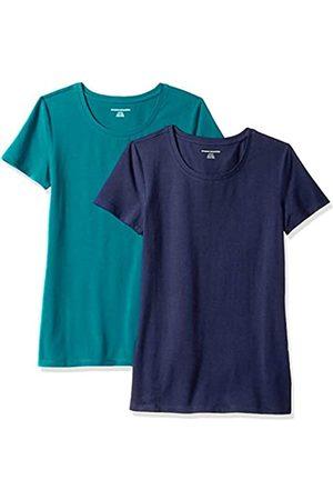Amazon – Camiseta de manga corta con cuello redondo de corte clásico para mujer (2 unidades)