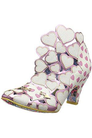 Irregular Choice Meile, Zapatos de tacón con Punta Cerrada para Mujer, (White Multi Dark)