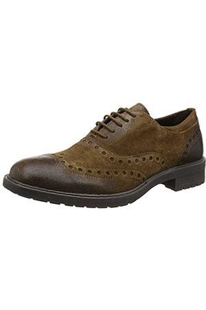 Geox U Kapsian A, Zapatos de Vestir para Hombre, (Ebony)