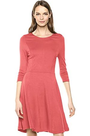 Lark & Ro 3/4 Sleeve Knit Fit and Flare Dress vestido, Faded Rose