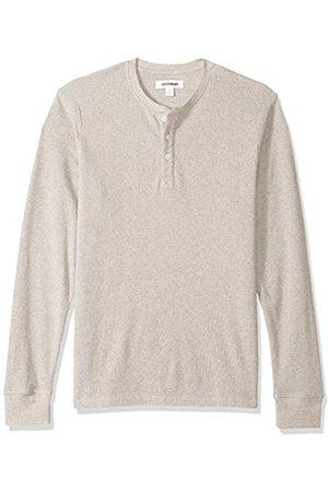 Goodthreads Marca Amazon - - Camiseta térmica flameada de manga larga y cuello Henley para hombre