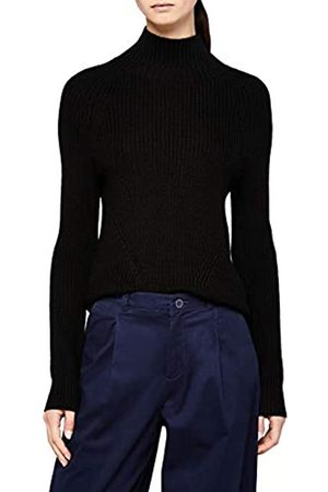 MERAKI Chunky Roll Neck suéter, Black)