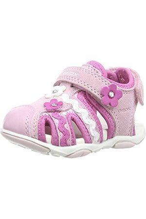 Geox B Sandal AGASIM Girl B, Sandalias de Punta Descubierta para Bebés, (Rose/Pink C8457)