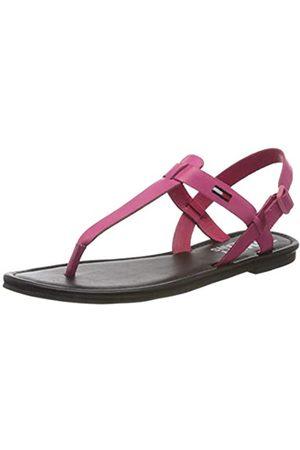 Tommy Hilfiger Color Block Basic Thong Sandal, Sandalias Punta Cerrada para Mujer, (Blush Red Xif)
