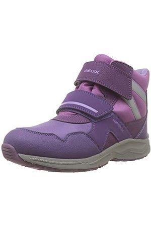 Geox J KURAY Girl B ABX B, Botas de Nieve para Niñas, Morado (Dk Purple C8016)