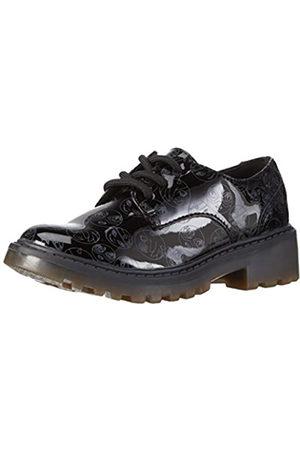 Geox J Casey Girl M, Zapatos de Cordones Derby para Niñas, (BLACKC9999)