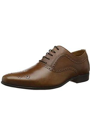 REK69|#Red Tape Bretby, Zapatos de Cordones Oxford para Hombre, (Tan 0)