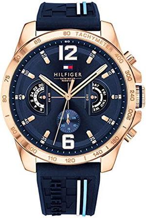 Tommy Hilfiger Reloj Multiesfera para Hombre de Cuarzo con Correa en Silicona 1791474