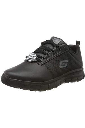 Skechers Women's Sure Track Erath - Ii Lace-up Sneakers, Black (Black Leather Blk)