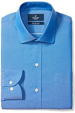 Buttoned Down Camisa Slim Fit Lisa con Cuello Italiano Sin Planchado (Sin Bolsillo) Hombre