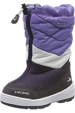 Viking Halden GTX, Botas de Nieve Unisex Niños, Morado (Aubergine/Purple 8316)
