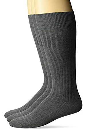 Buttoned Down Marca Amazon – Calcetines de vestir para hombre con botones de plumón, 3 unidades, acanalados, sedosos y suaves.