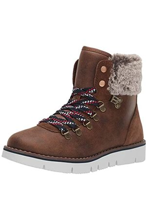 Skechers Women's BOBS ROCKY - URBAN HIKER Low-Top Slippers, Brown (Brown Micro Leather/Faux Fur Cuff Brn)
