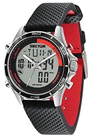 Sector No Limits Reloj Analógico-Digital para Hombre de Cuarzo con Correa en Cuero R3271615001