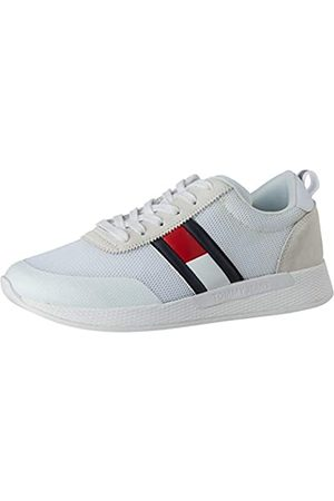 Tommy Hilfiger Flexi Tommy Jeans Flag Sneaker, Zapatillas para Hombre, (White Ybs)