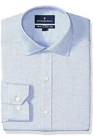 Buttoned Down Tailored Fit Spread-Collar Pattern Non-Iron Dress Shirt Camisa de Vestir