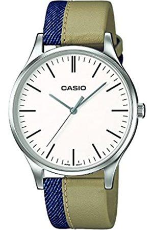 Casio Reloj Analógico para Hombre de Cuarzo con Correa en Cuero MTP-E133L-7EEF