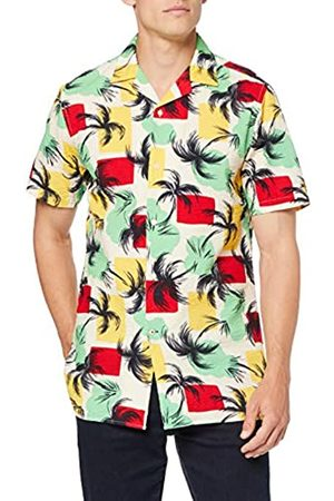 Tommy Hilfiger Palm Tree Print Shirt S/s Camisa, (Pepper Green/Multi 903)
