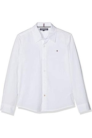 Tommy Hilfiger Boys Solid Stretch Poplin Shirt L/s Blusa