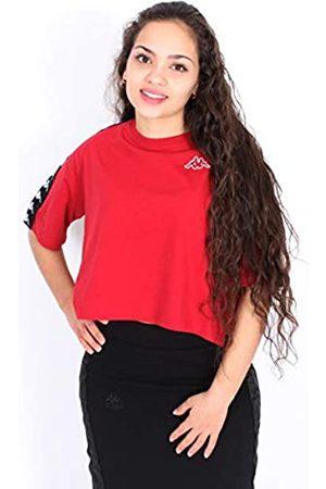 Kappa Banda Avant S/S T Camiseta de Manga Corta, Mujer, (Red dk/Black)