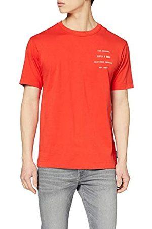 Scotch&Soda Organic Cotton Crewneck tee with Clean Logo Artwork Camiseta