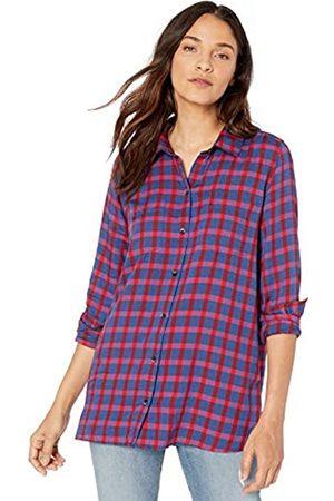 Goodthreads Modal Twill Two-Pocket Relaxed Shirt Dress-Shirts, / a Cuadros