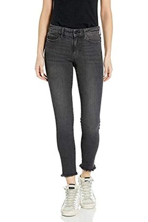 Goodthreads Mid-Rise Skinny Jeans, Cropped Fray Vintage Black