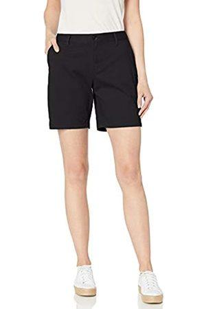 Amazon Pantalón corto estilo chino, entrepierna 17,78 cm, para mujer