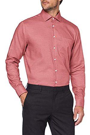 Seidensticker Modern Fit Langarm mit Business Kent-Kragen Bã¼Gelfrei Struktur-100% Baumwolle Camisa