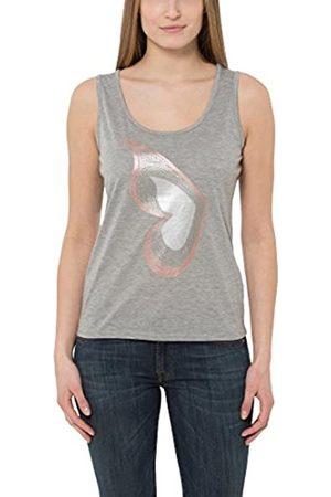 Berydale Camiseta sin mangas de mujer, diseño con mariposa tipo lentejuela