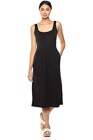 Daily Ritual Jersey Sleeveless Empire-Waist Midi Dress