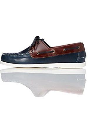 FIND Zapatos Náuticos Hombre, (Navy/tan)
