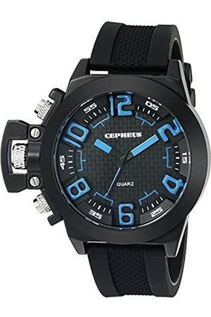CEPHEUS CP901-622B - Reloj analógico de Cuarzo para Hombre con Correa de Silicona