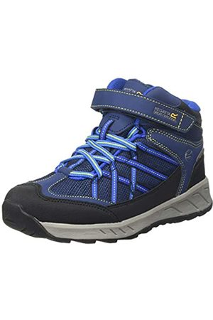 Regatta Samaris V Junior Waterproof Hiking Boot, Botas de Senderismo Unisex Niños, (Prussian/Neon Spring Abm)