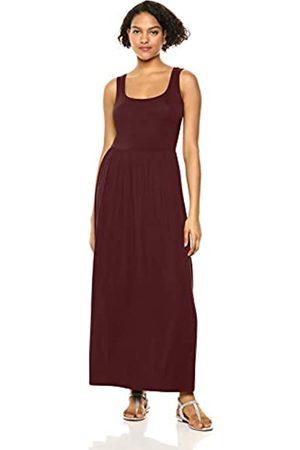 Amazon Vestido maxi con cintura y sin mangas para mujer