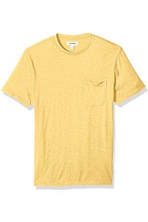 Goodthreads Marca Amazon - - Camiseta ligera con cuello redondo de algodón flameado para hombre
