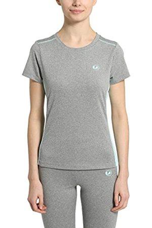 Ultrasport Fitness/Sport Shirt Camiseta de Manga Corta, Mujer, /Agua