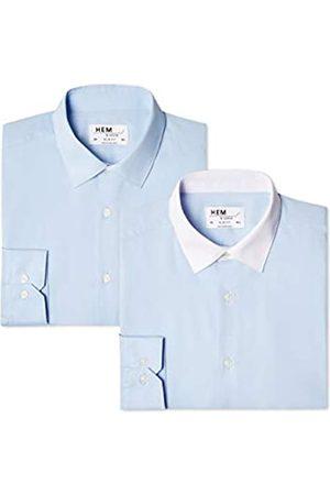 FIND Slim Fit Collar, Camisa de Oficina para Hombre, 62 (Talla del Fabricante: 18.5)