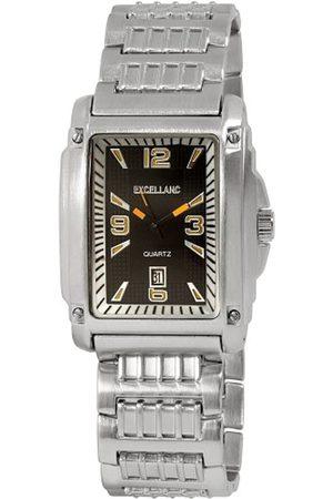 Excellanc 284021100059 - Reloj analógico de caballero de cuarzo con correa de aleación plateada